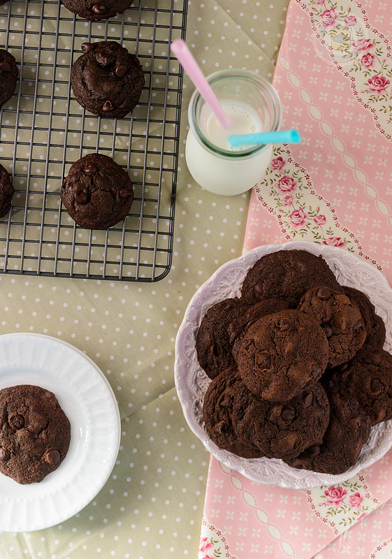 Espresso Double Chocolate Chip Cookies