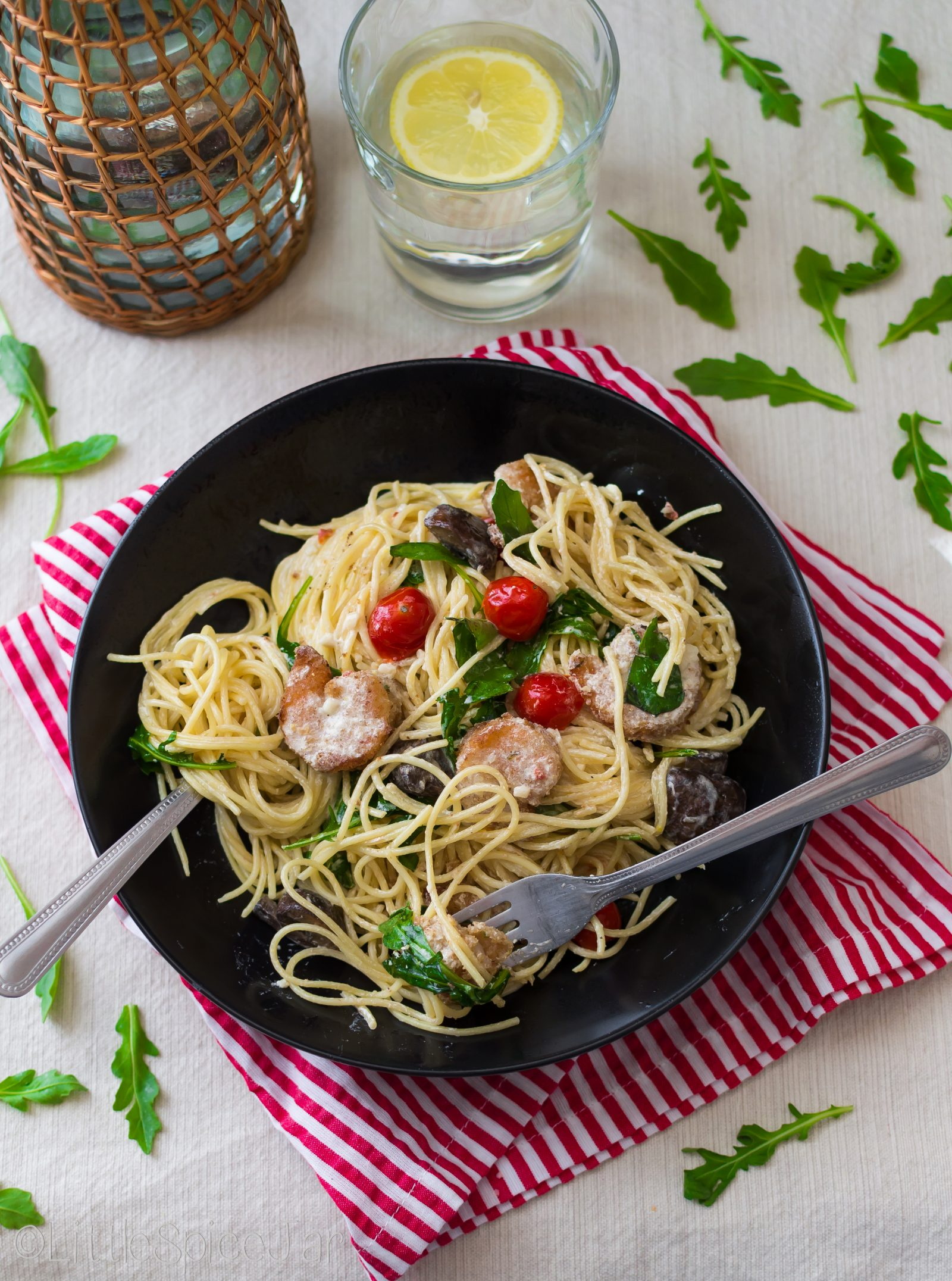 bistro shrimp pasta little spice jar