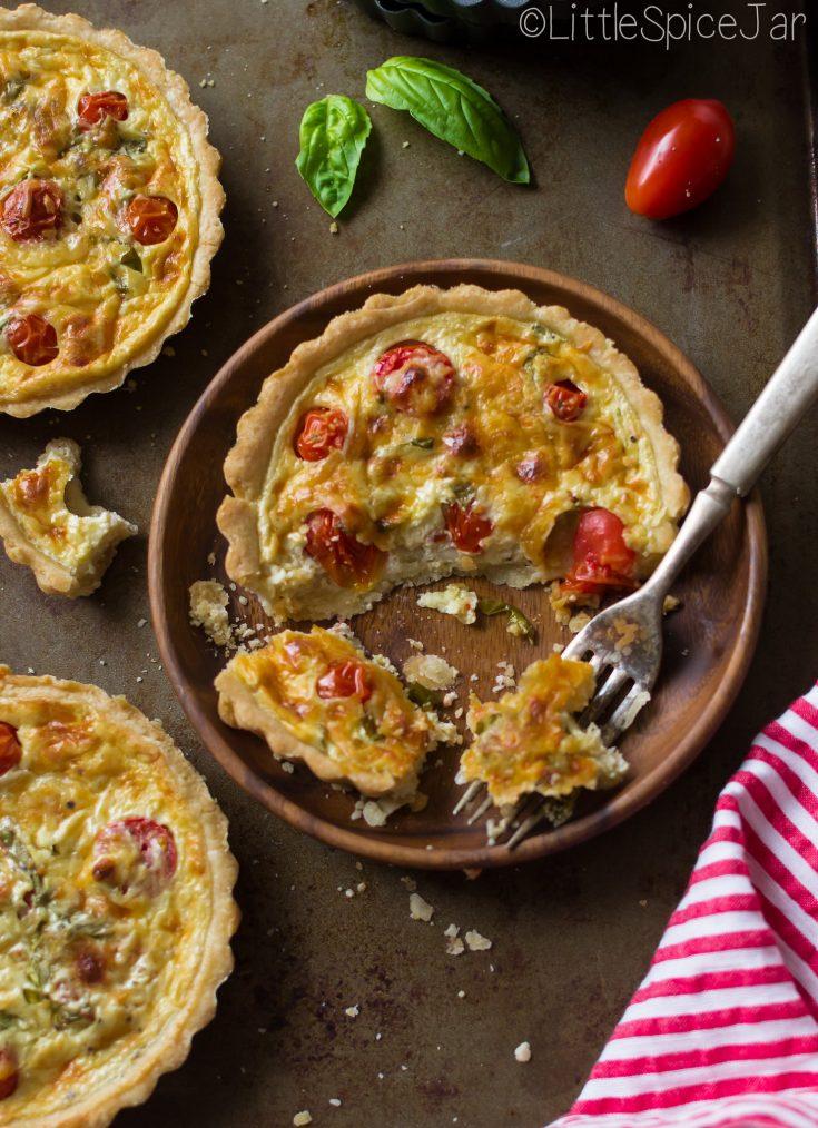 Quick & Easy Tomato Basil Tart