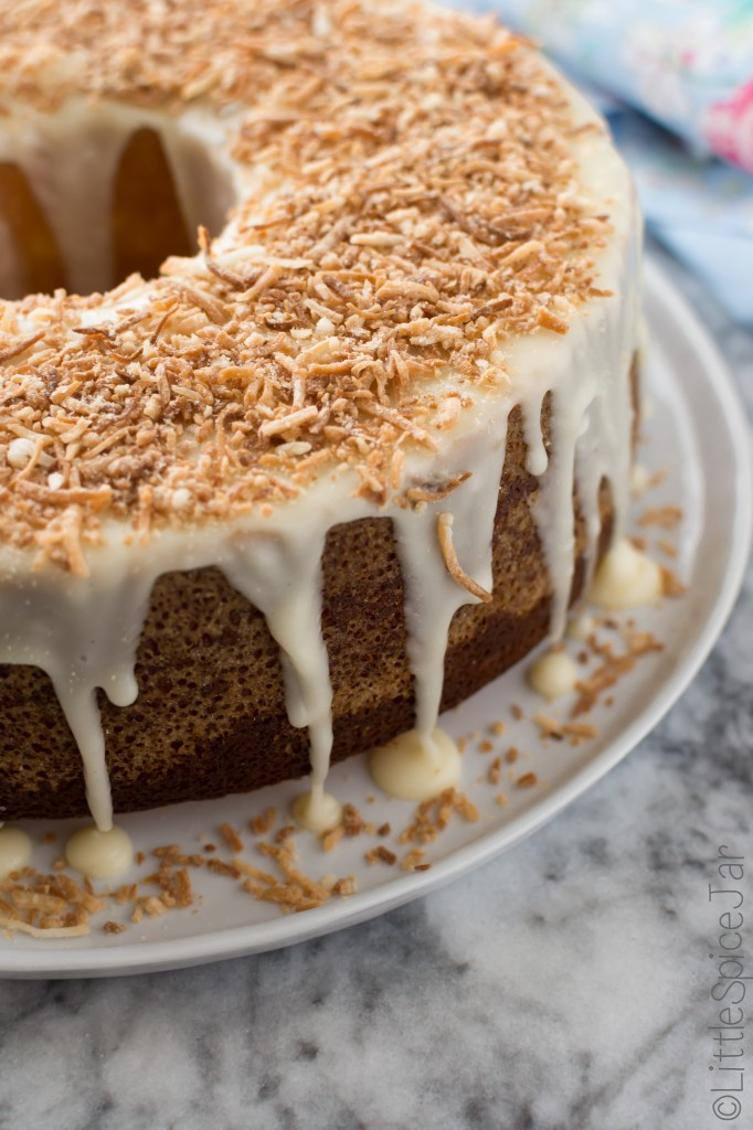 ... Louisiana crunch cake with the most deliciously sweet and tangy icing