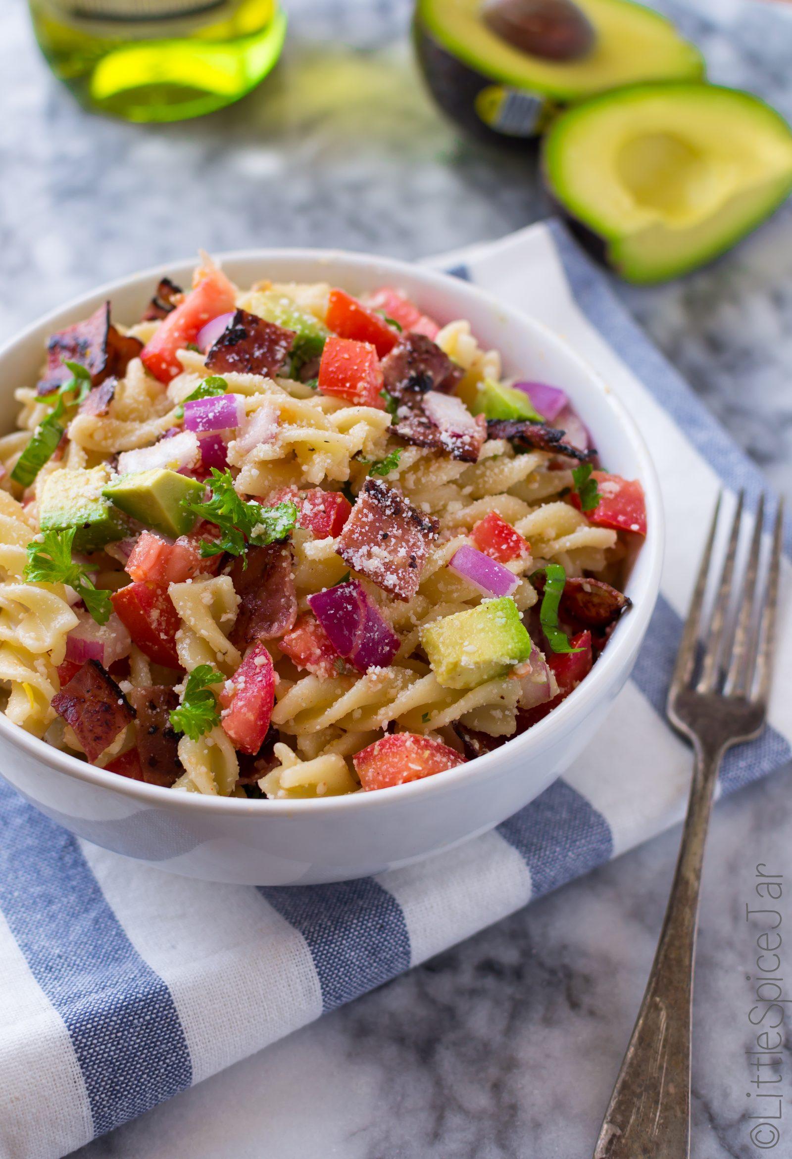 Bacon Avocado Pasta Salad