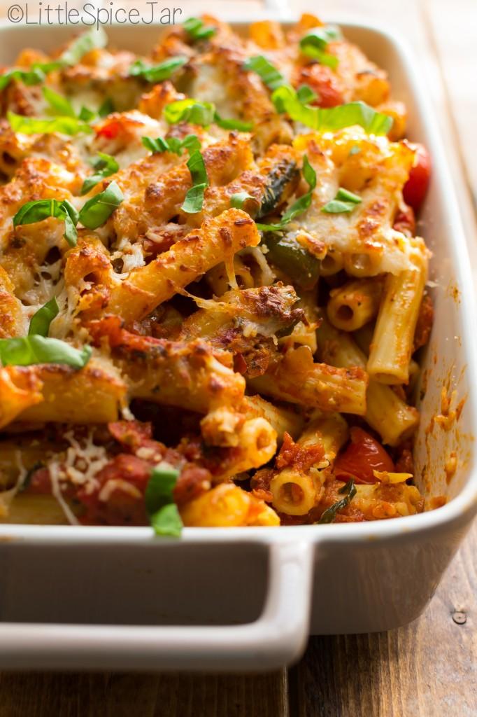 Spicy Baked Caprese Pasta 10