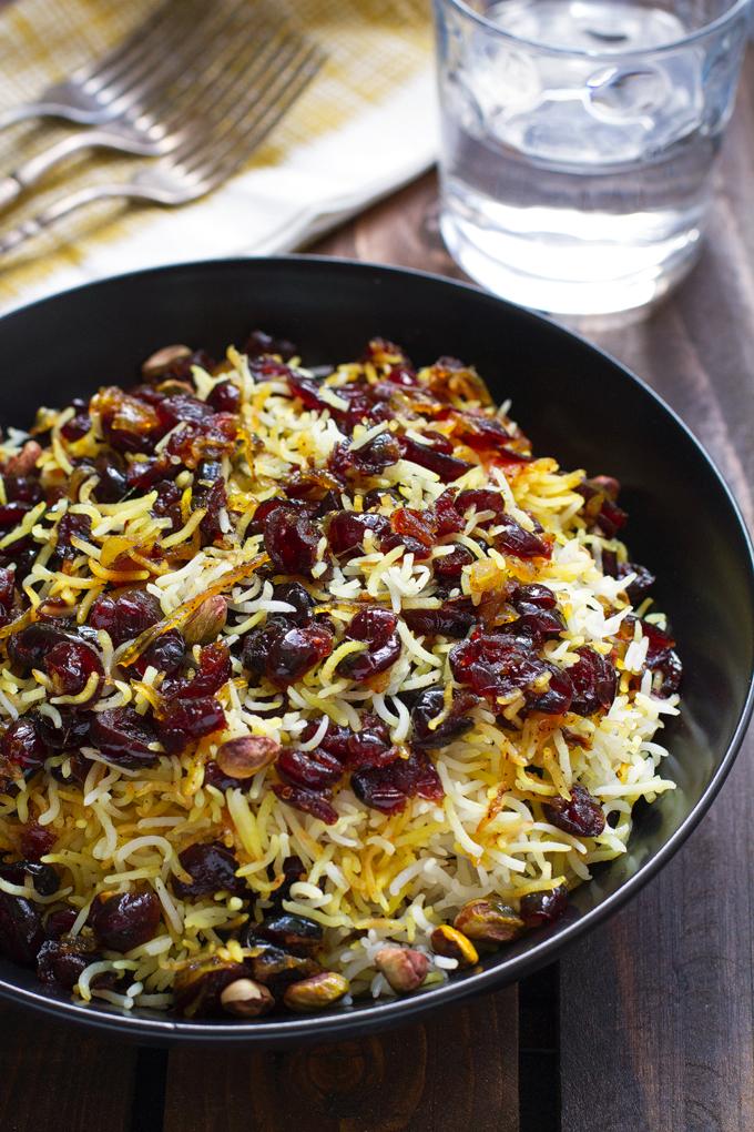 Persian Cranberry Rice Pilaf Recipe | Little Spice Jar