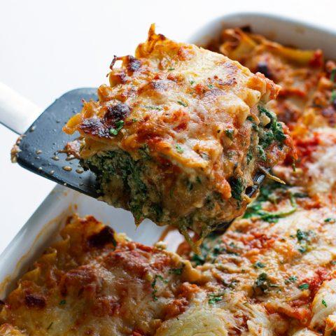 Skinny Mushroom Spinach Lasagna Recipe Little Spice Jar