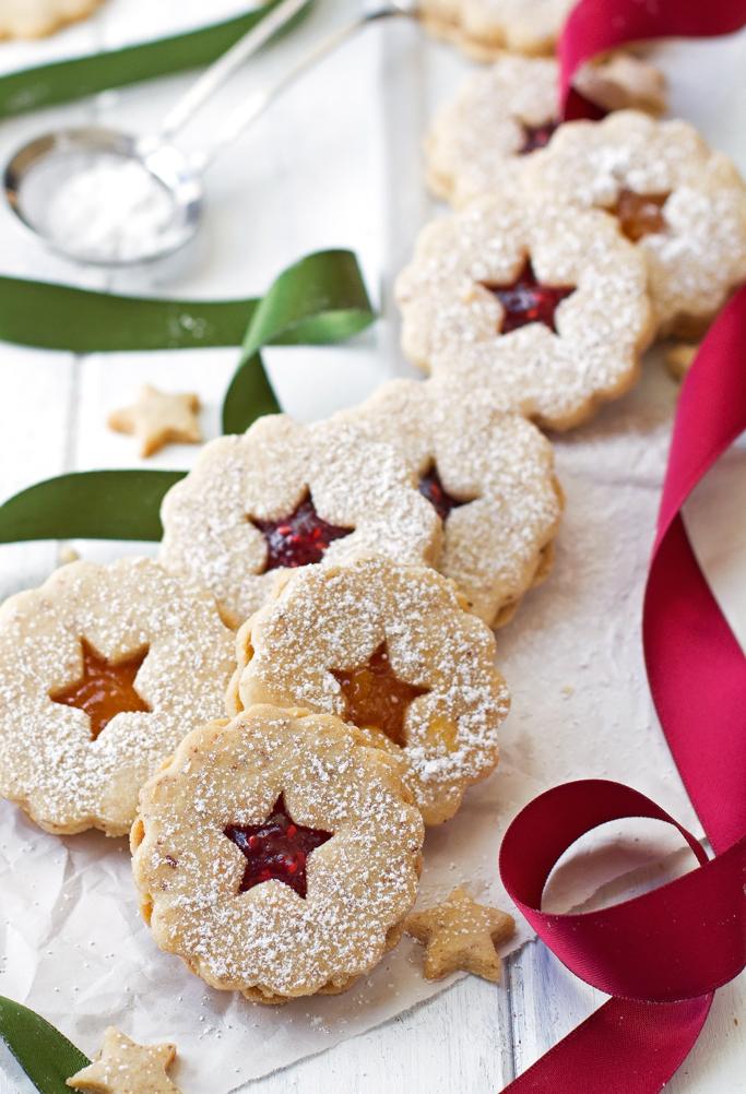 Raspberry Almond Linzer Cookies Recipe | Little Spice Jar