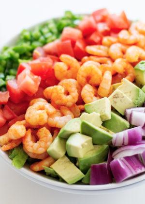 Sweet Shrimp With Citrus Black Bean Salad