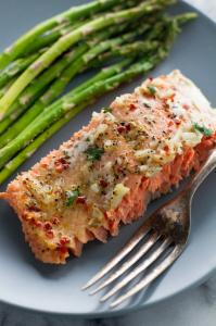 Garlic Butter Baked Salmon in Foil Recipe   Little Spice Jar