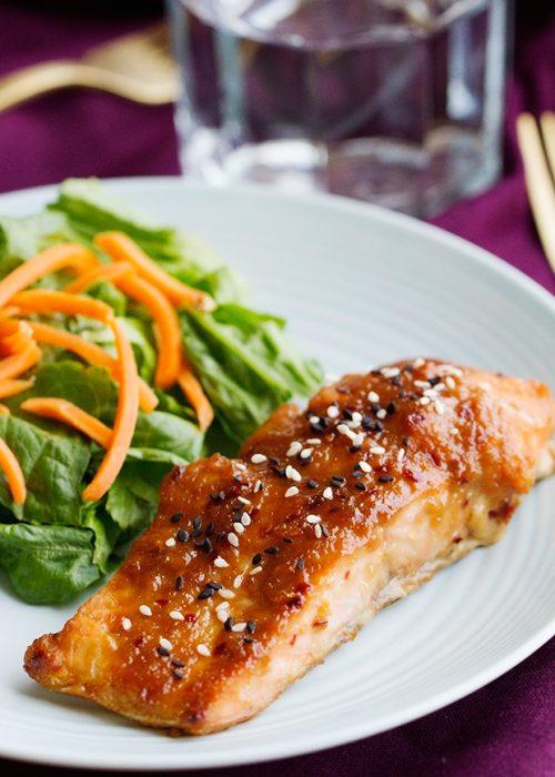 Teriyaki Salmon with Sriracha Sauce Recipe   Little Spice Jar