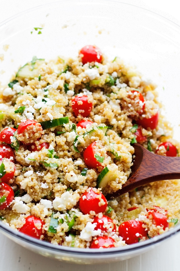 Summer Tomato and Cucumber Quinoa Salad Recipe | Little ...