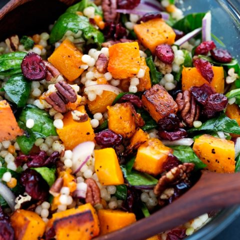 Autumn Pearl Couscous Salad With Roasted Butternut Squash Recipe Little Spice Jar