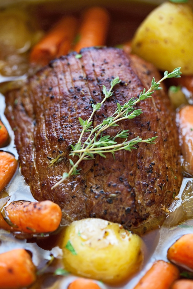 Best Ever Pot Roast with Carrots and Potatoes
