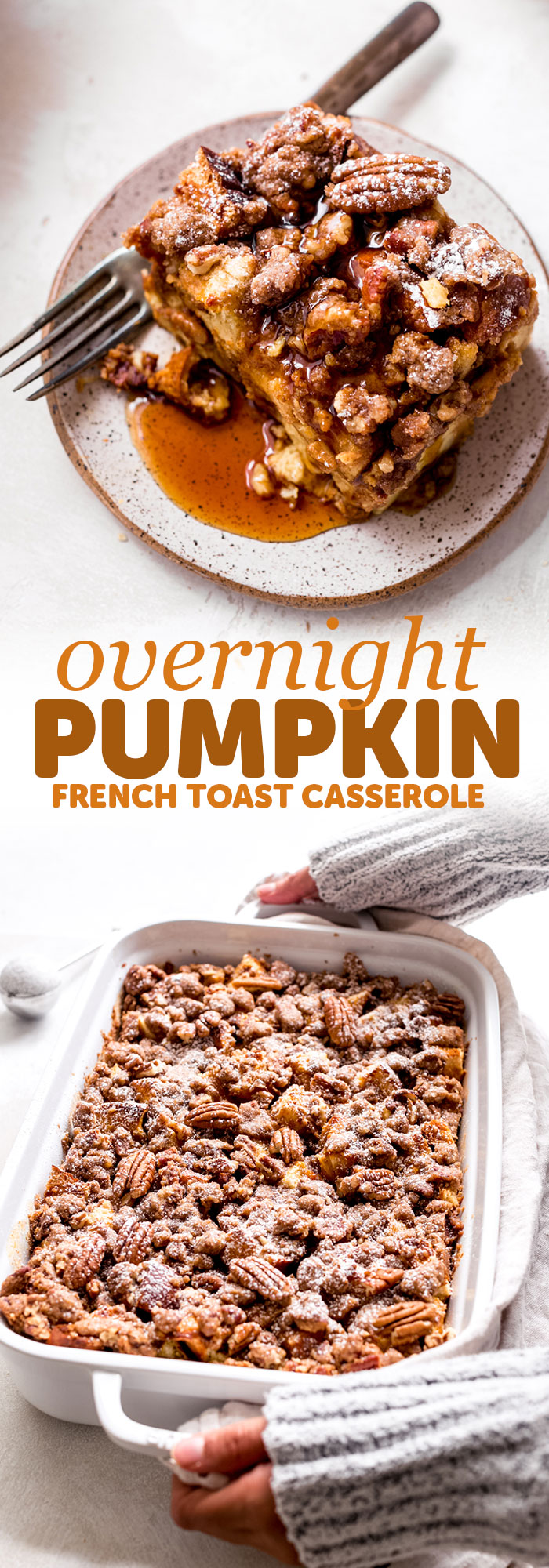 Pumpkin French Toast Casserole - This recipe is super friendly to make ahead of time and perfect for entertaining brunch guests of for Saturday morning breakfast! #pumpkinfrenchtoast #overnightfrenchtoastcasserole #frenchtoastcasserole #frenchtoast | Littlespicejar.com