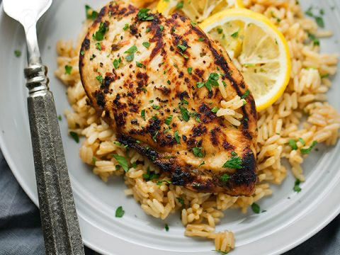 One Pot Greek Chicken And Rice Pilaf Recipe Little Spice Jar
