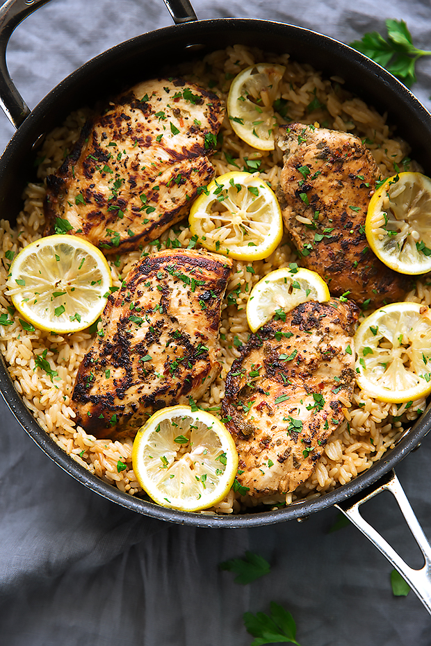 One pot greek chicken and rice pilaf recipe little spice jar one pot greek chicken and rice pilaf a simple one pot dinner thats ready in forumfinder Choice Image