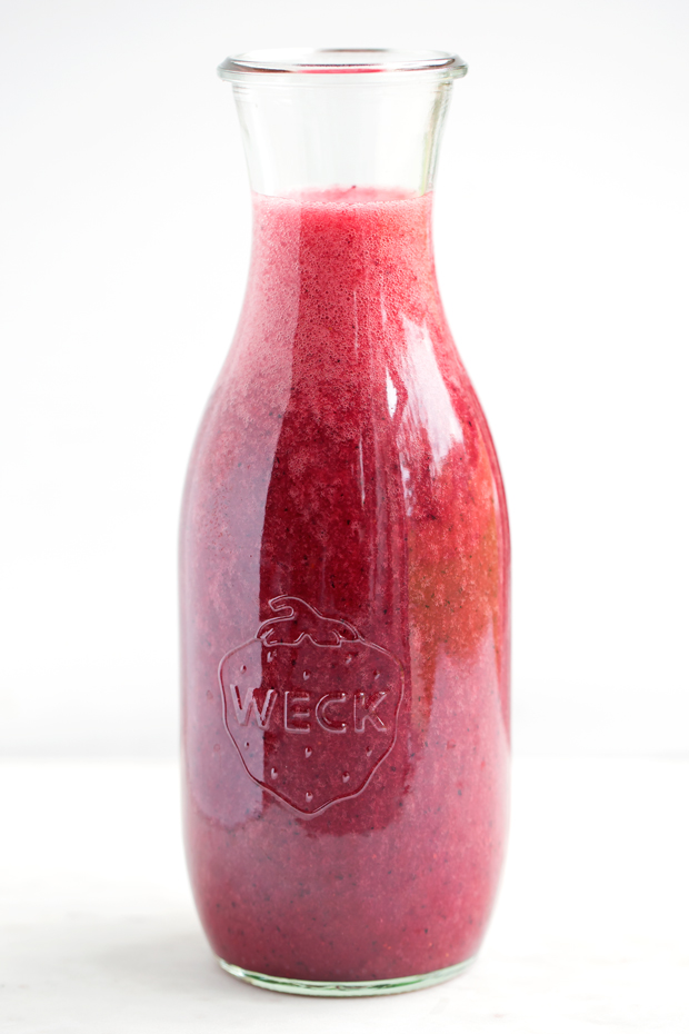 Mixed Berry Agua Frescas - A simple blend of simple syrup, fresh berries, lime juice, and water! The ultimate summer drink! #aguafrescas #berryaguafrescas #summerdrinks | Littlespicejar.com