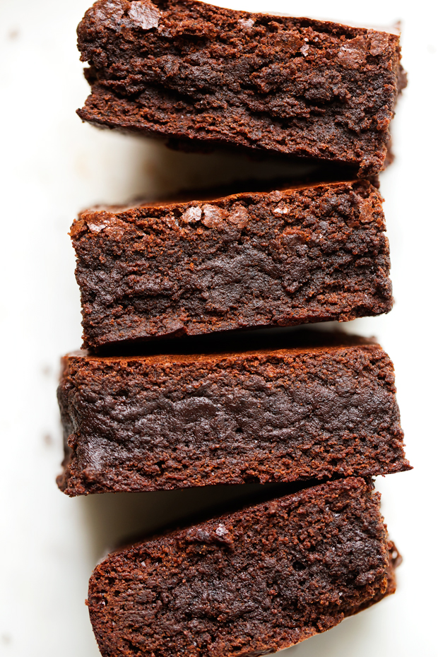 Starbucks Copycat Espresso Brownies - made with real ground espresso beans! These brownies are sooo fudgy! #brownies #starbucks #espressobrownies | Littlespicejar.com