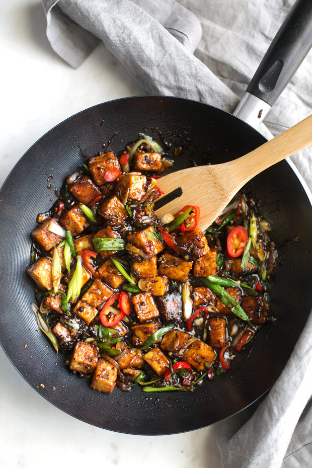 Crispy Black Pepper Tofu Stir Fry Recipe Little Spice Jar