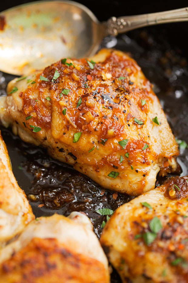 garlic chicken honey indonesian recipes sauce recipe easy skillet sweet thighs sticky food spicy mexican simple littlespicejar crispy homemade adapted
