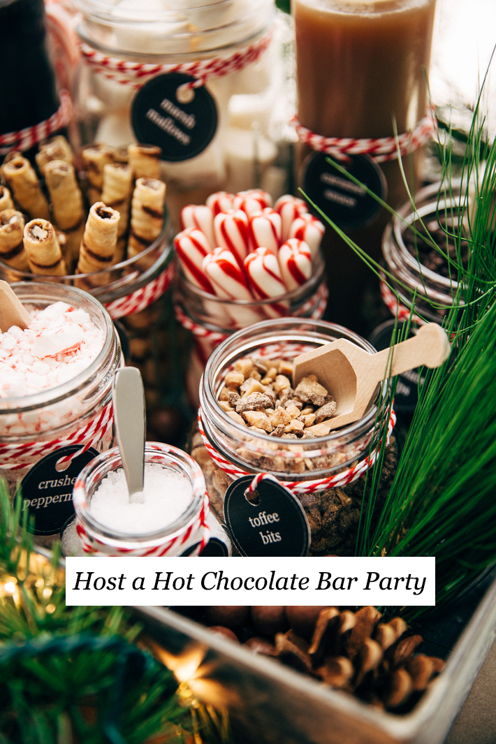 How to Host a Hot Chocolate Bar Party + The Most Luxurious Hot Chocolate