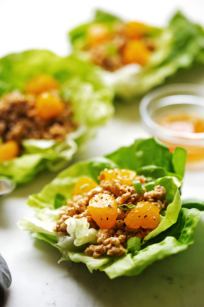 Orange Chicken Lettuce Wraps Recipe Little Spice Jar