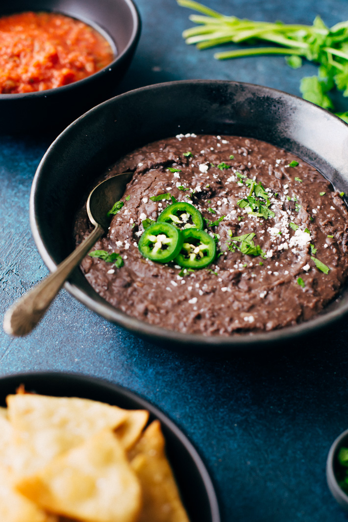 how to make refried black beans