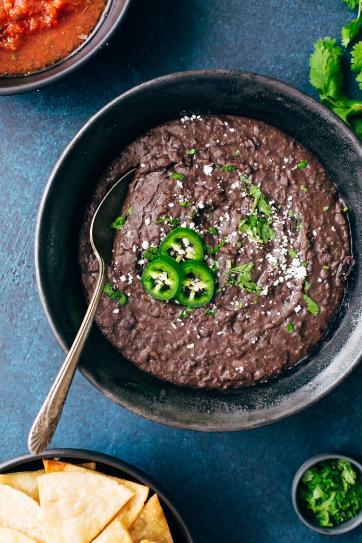 Spiced Up Refried Black Beans Recipe Little Spice Jar