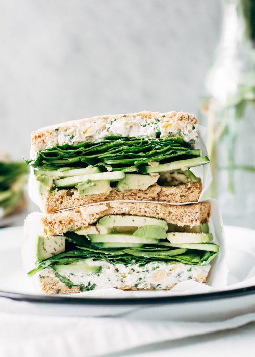Kale Greek Salad with Roasted Chickpeas Recipe | Little ...