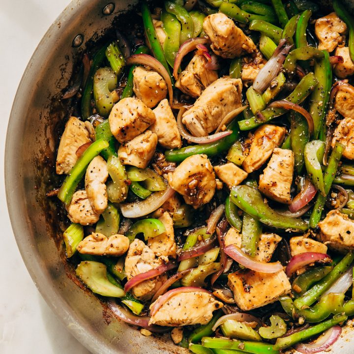 Black Pepper Chicken Stir Fry Recipe Little Spice Jar