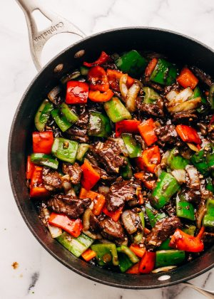 Garlic lovers pepper steak stir fry recipe little spice jar an ultra flavorful pepper steak stir fry for the garlic lovers this is a great stir fry to meal prep for the week and store in containers so you can just forumfinder Image collections