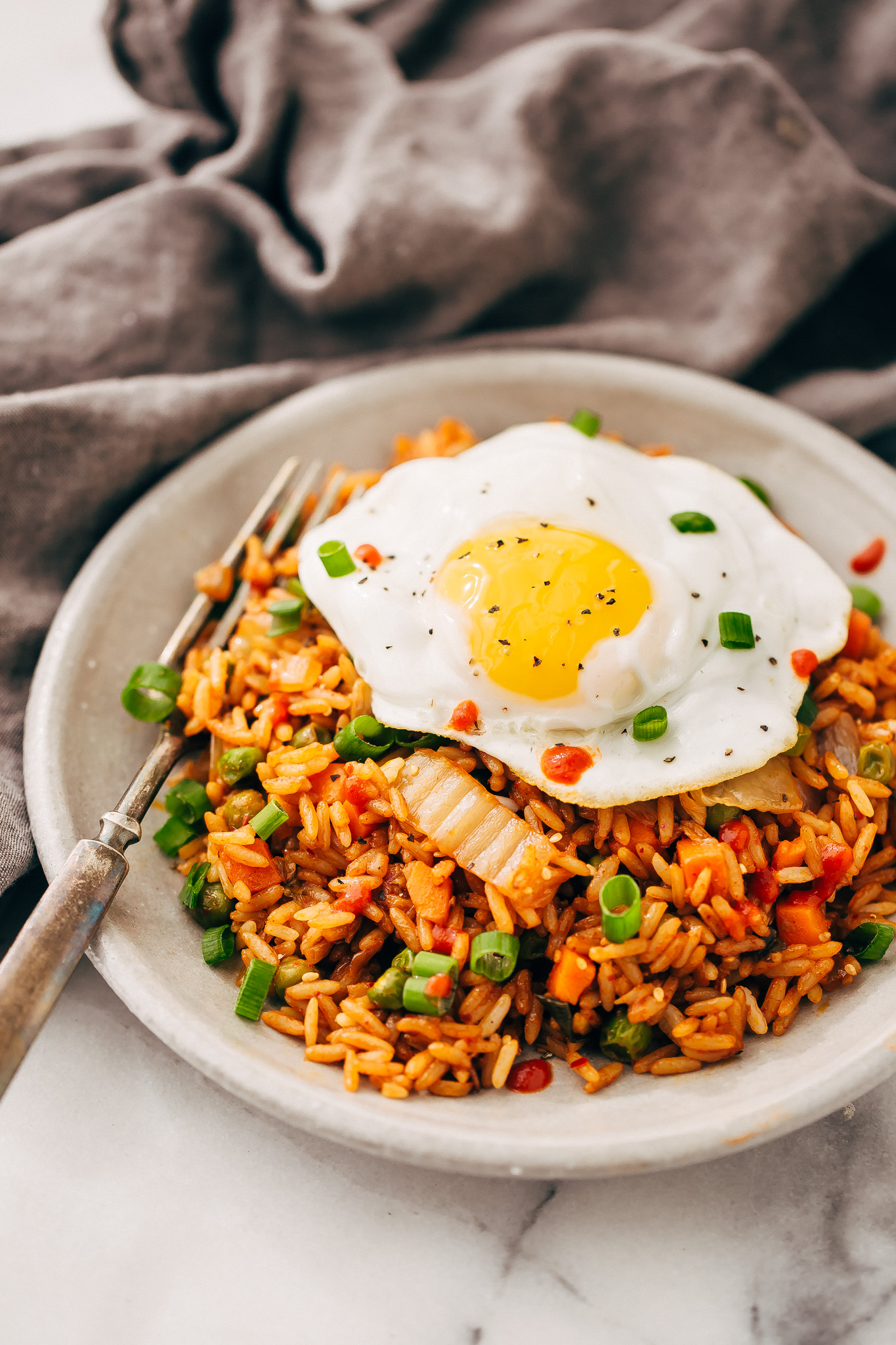 Quick Kimchi Fried Rice Recipe | Little Spice Jar