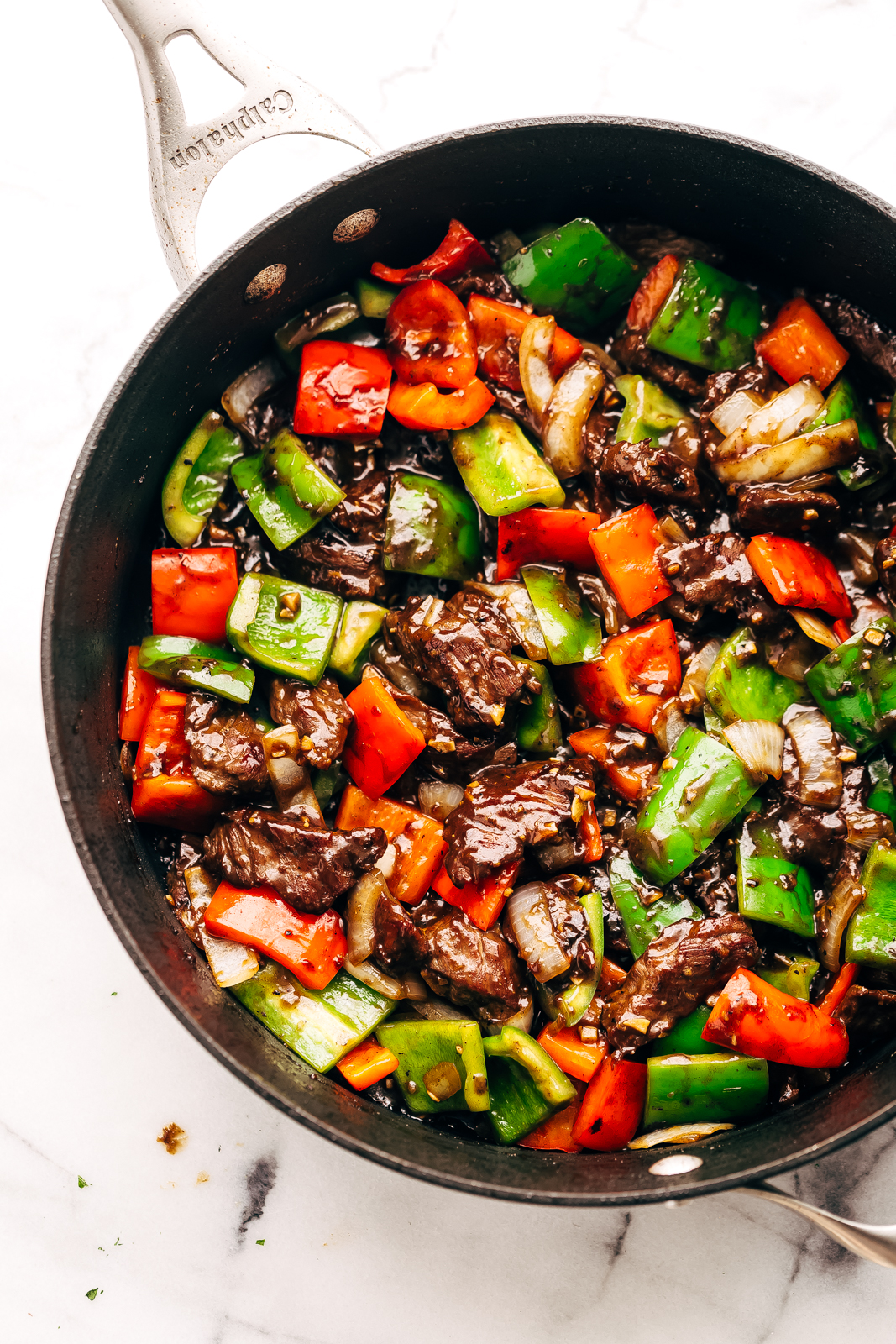 Garlic Lovers Pepper Steak Stir Fry Recipe | Little Spice Jar
