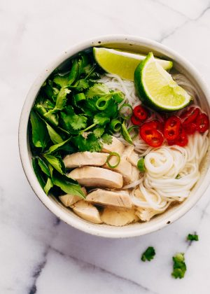 Instant Pot Chicken Pho Noodle Soup (Pho Ga)