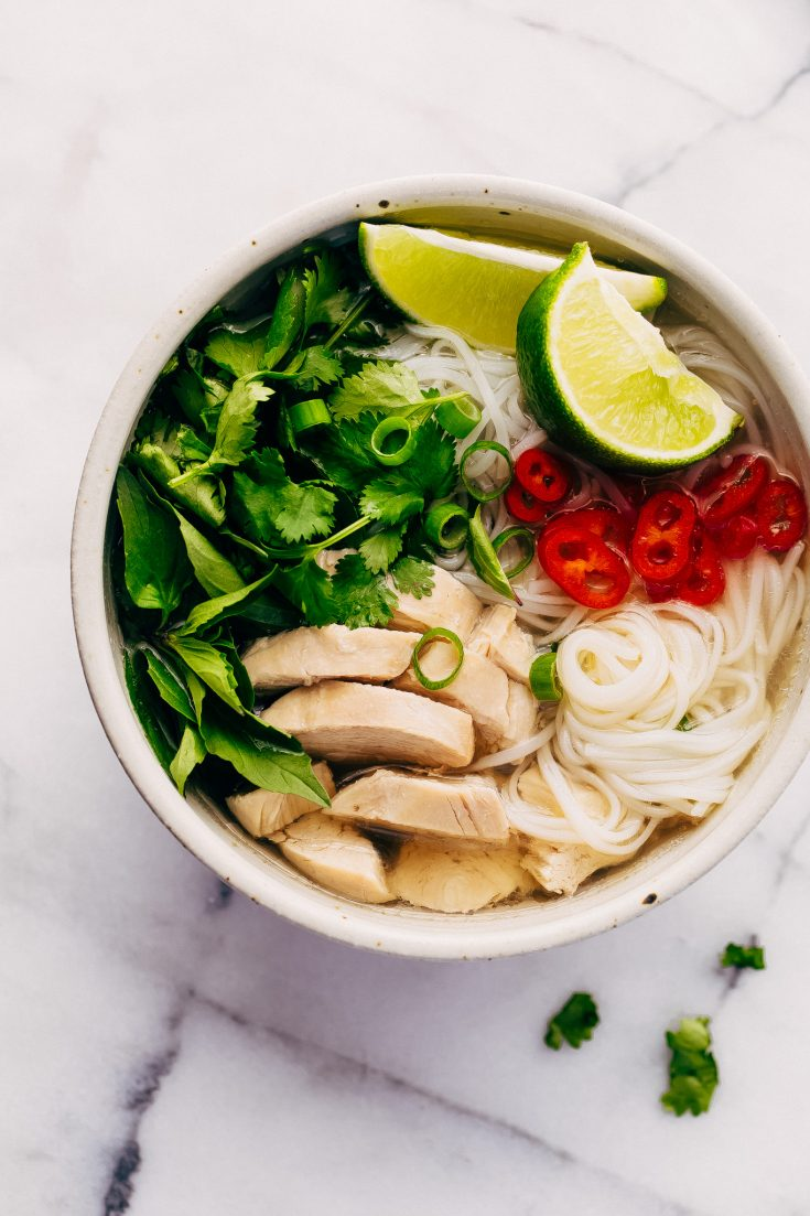Instant Pot Chicken Pho Noodle Soup (Pho Ga)