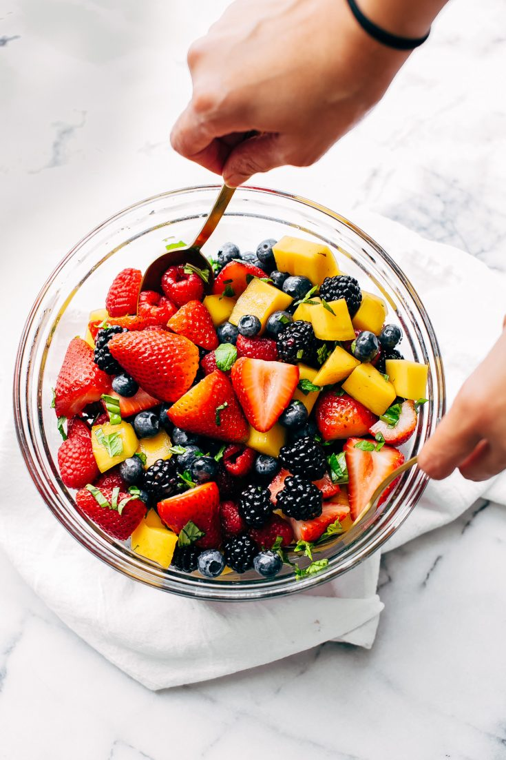 Berry Fruit Salad with Mangoes