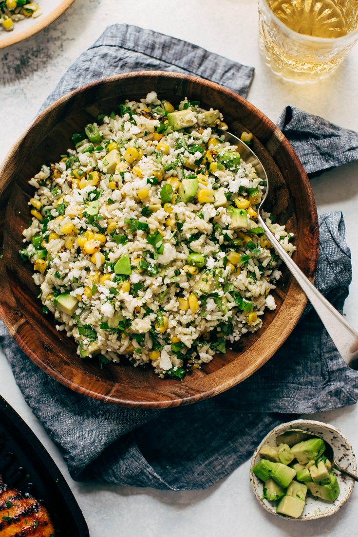 Street Corn Rice Salad with Avocados