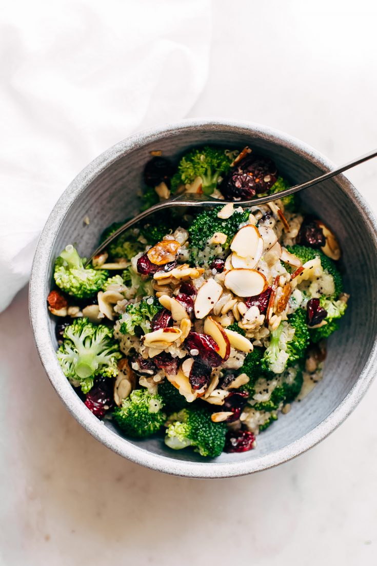 Superfood Broccoli Salad with Creamy Poppyseed Dressing