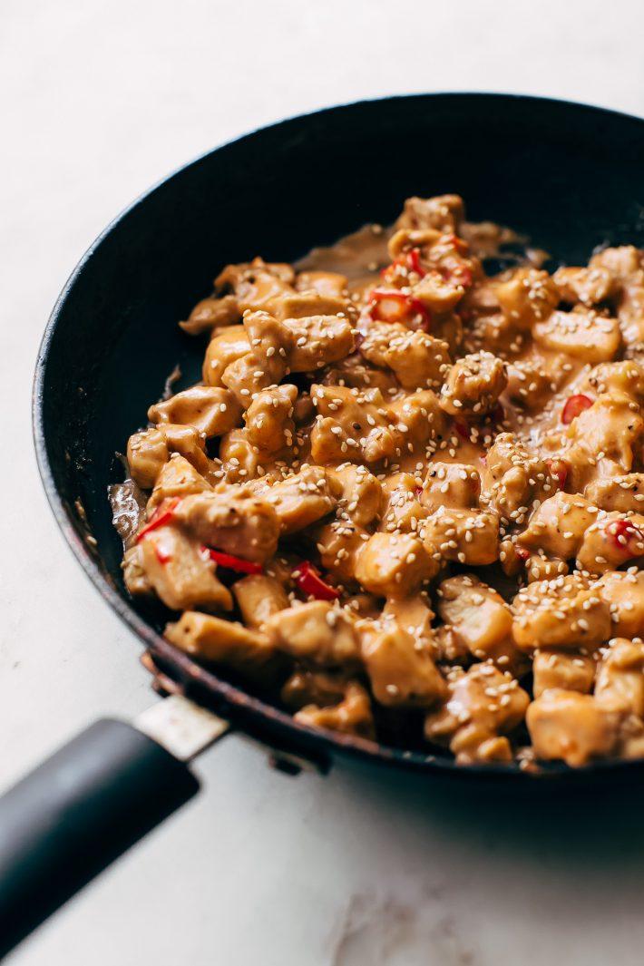 Bang Bang Chicken Lettuce Wraps - a homemade lettuce wrap stuffed with jasmine rice, sautéed chicken and tons of bang bang sauce! #bangbangchicken #bangbangsauce #bangbanglettucewraps #chickenlettucewraps   Littlespicejar.com