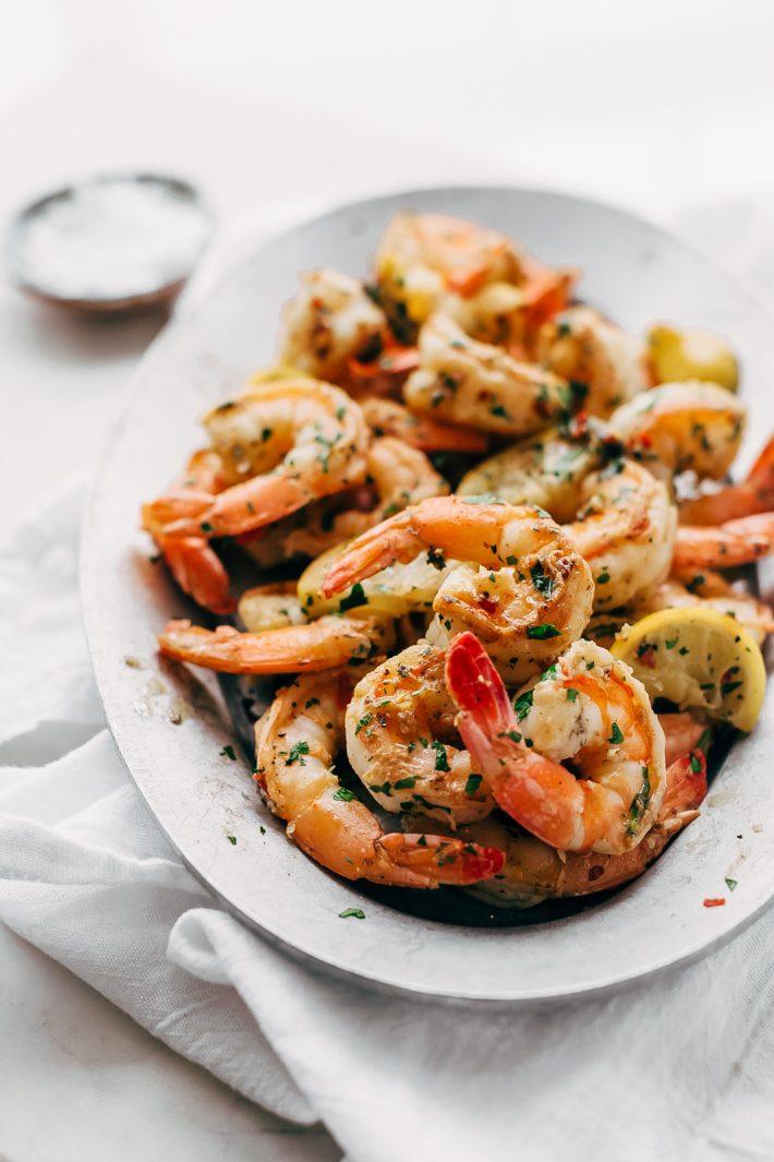 Avocado Shrimp Salad with Citrus Miso Dressing - learn how to make a quick and easy shrimp salad loaded with tons avocados, mandarin oranges, and sliced almonds! #shrimpsalad #salad #lowcarb #avocadoshrimpsalad   Littlespicejar.com