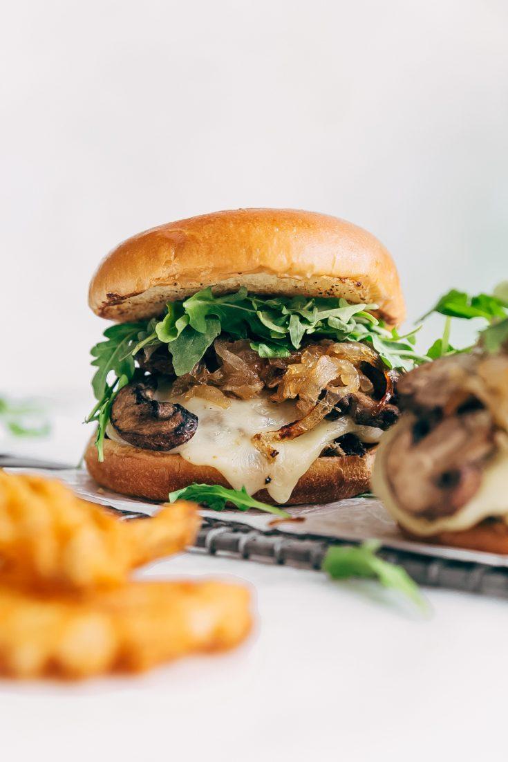 Rockin' Sweet Onion Mushroom Swiss Burgers
