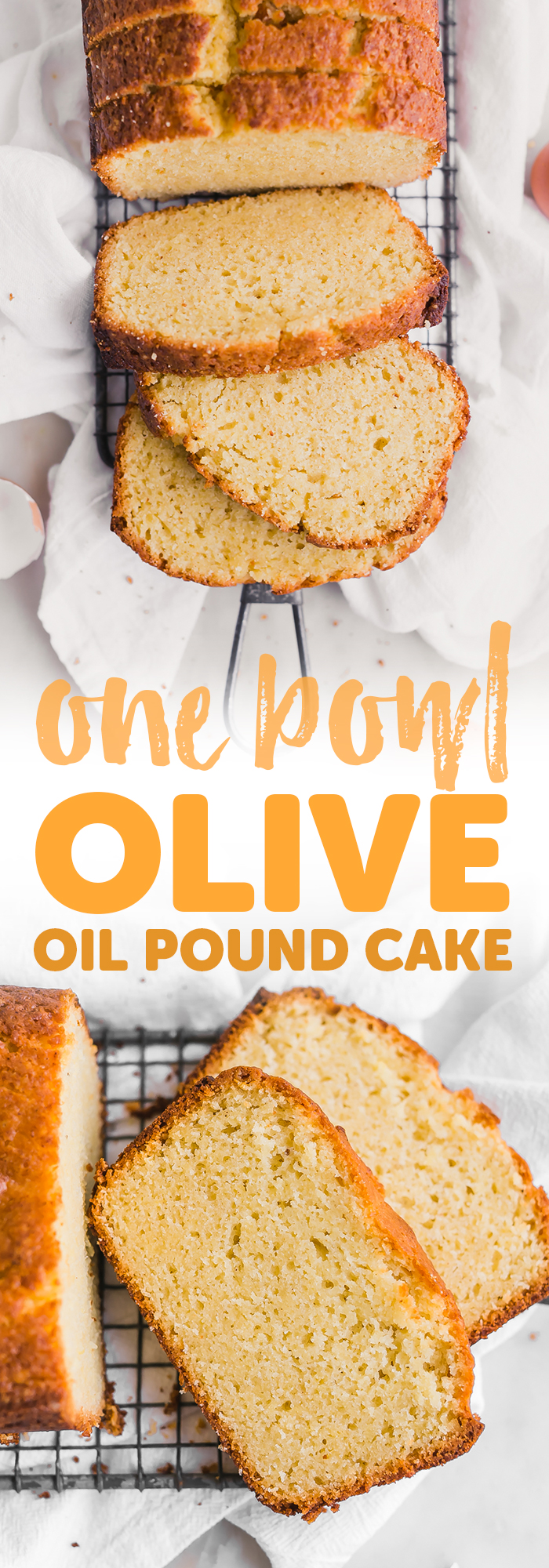 One Bowl Lemon Olive Oil Pound Cake - Learn how to make the easiest lemon olive oil pound cake in just one bowl! It takes 5 minutes to whisk together thats all! #oliveoilpoundcake #poundcake #lemonoliveoilpoundcake | Little Spice Jar