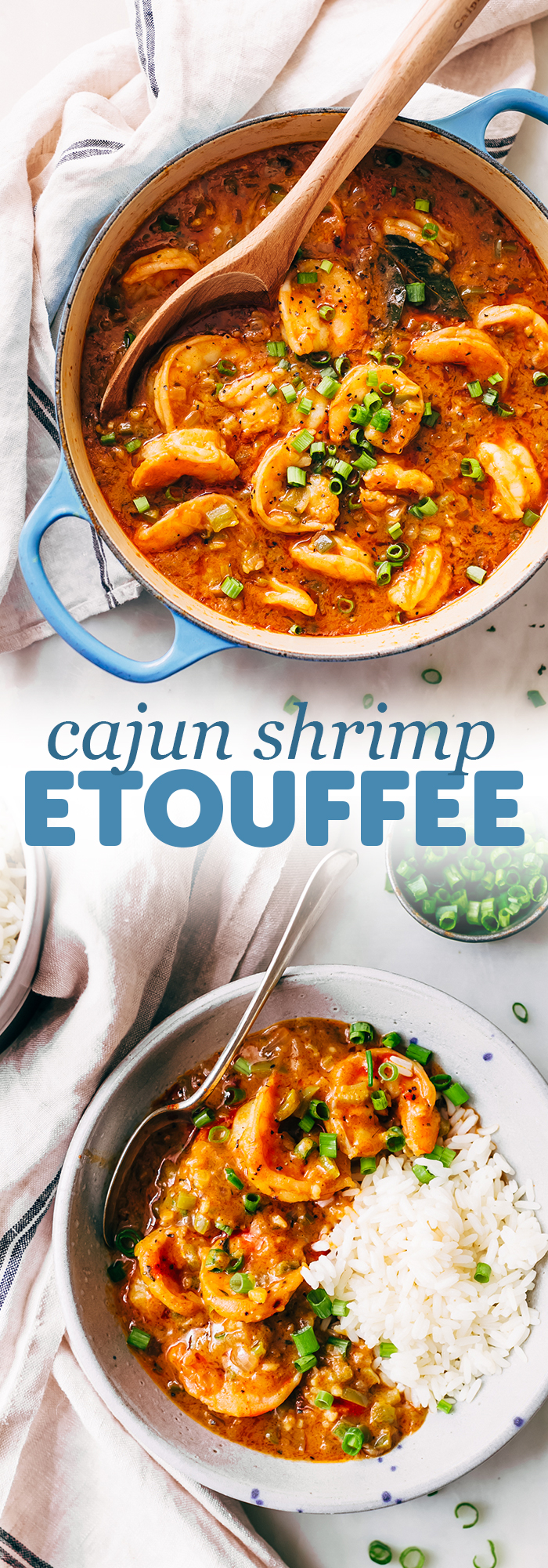 Cajun Shrimp Étouffée - learn how to make shrimp étouffée from scratch! It's hearty and delicious! #comfortfood #dinnerecipes #cajun #shrimpetouffee #etouffee | Littlespicejar.com