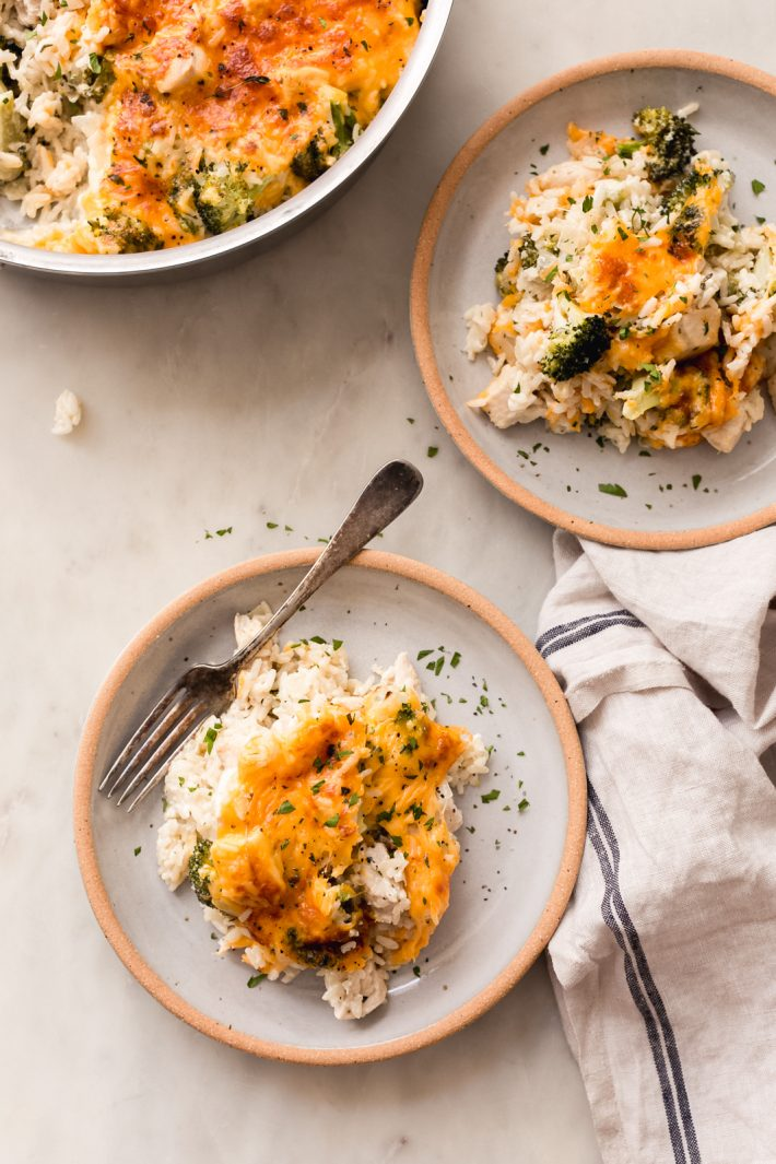 One Pot Cheesy Chicken Broccoli Rice Casserole - a quick and easy one pot weeknight dinner recipe! This is made completely from scratch and is so flavorful! #casserole #onepotrecipes #onepotrecipe #chickencasserole #broccoliricecasserole #casserole   Littlespicejar.com