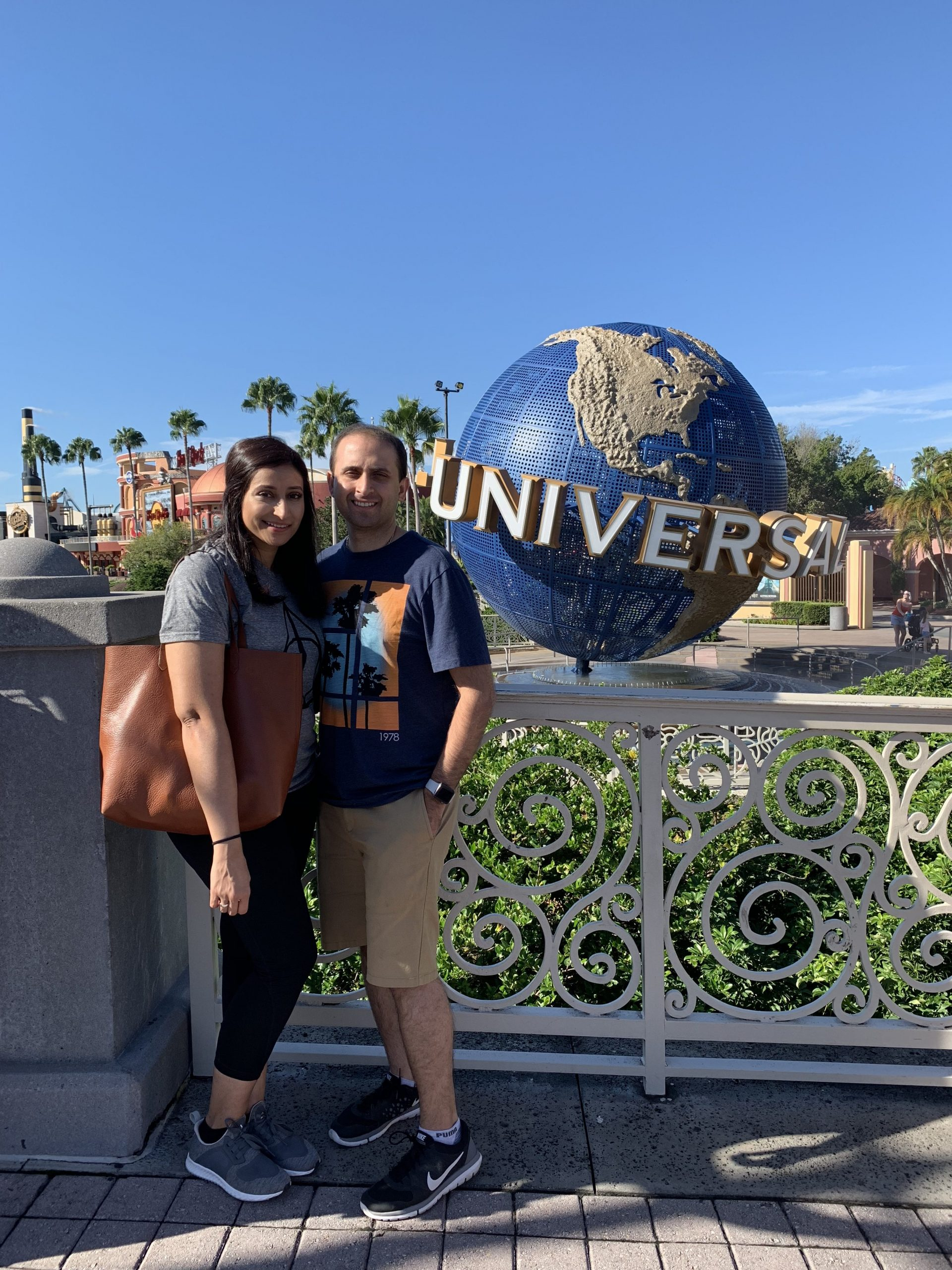 hubby and me at universal studios