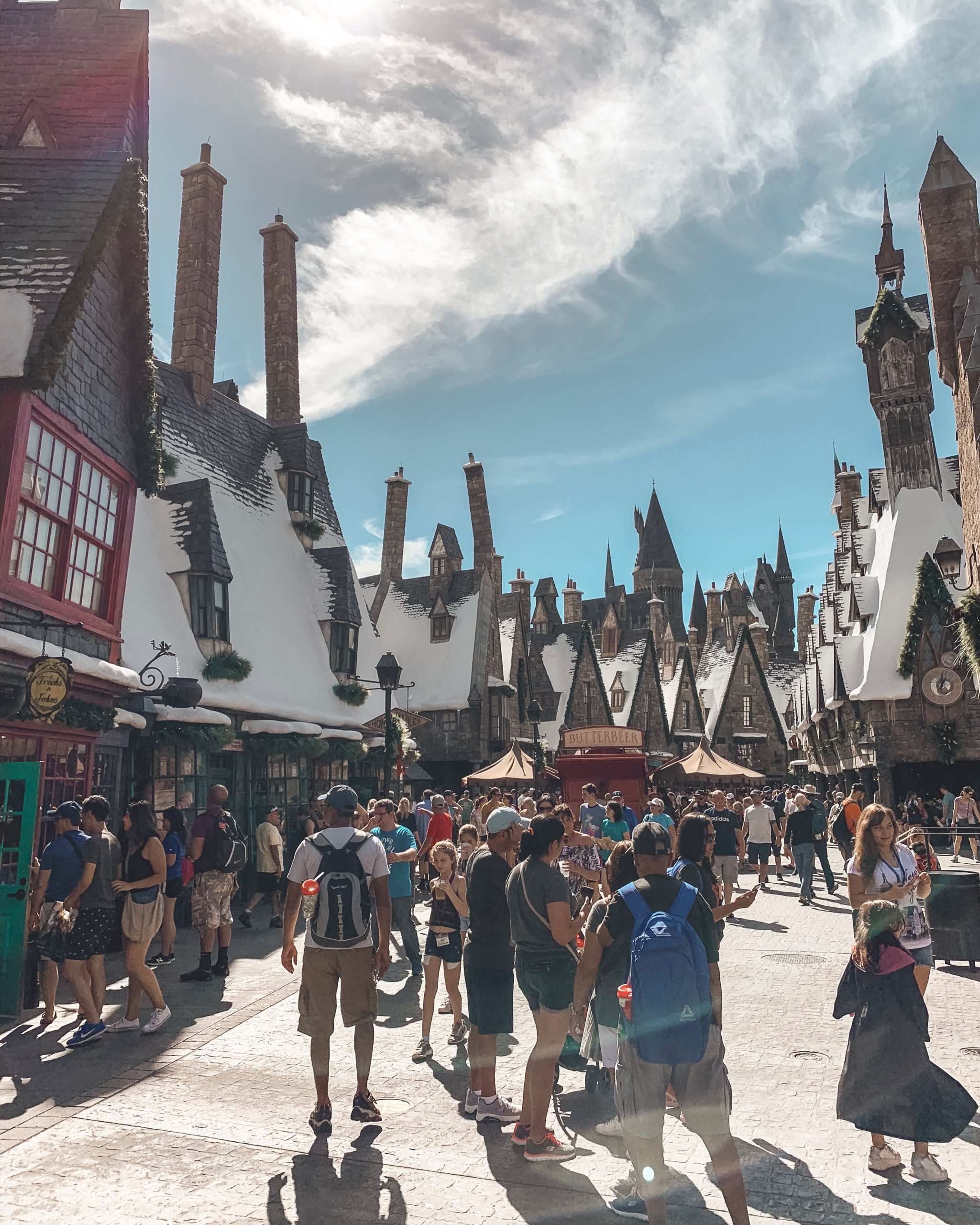a picture of hogsmeade at The Wizarding World of Harry Potter
