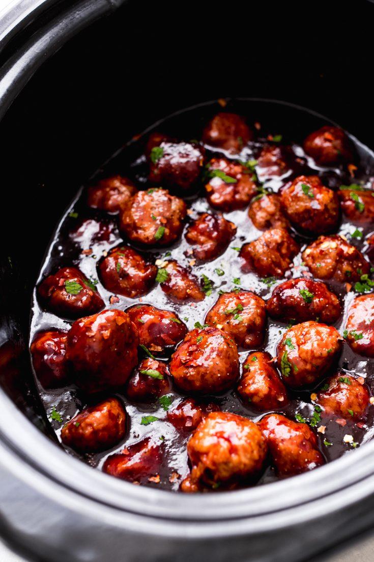 Slow Cooker Honey Chipotle Meatballs