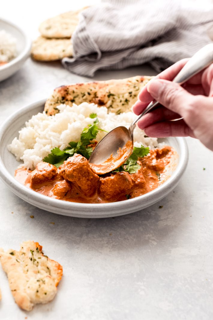 Instant Pot Chicken Tikka Masala - a homemade, from scratch recipe that only requires 15 minutes of work! #tikkamasala #instantpot #instantpotrecipes #chickentikkamasala | Littlespicejar.com