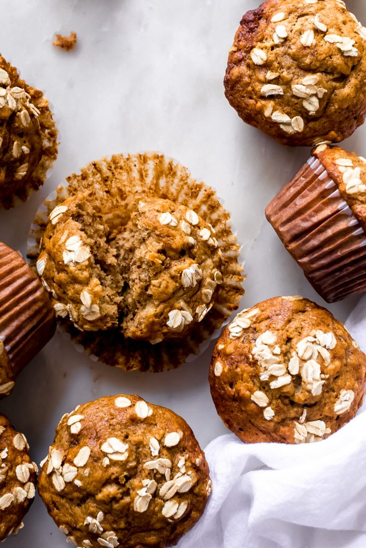Healthy Maple Banana Nut Muffins