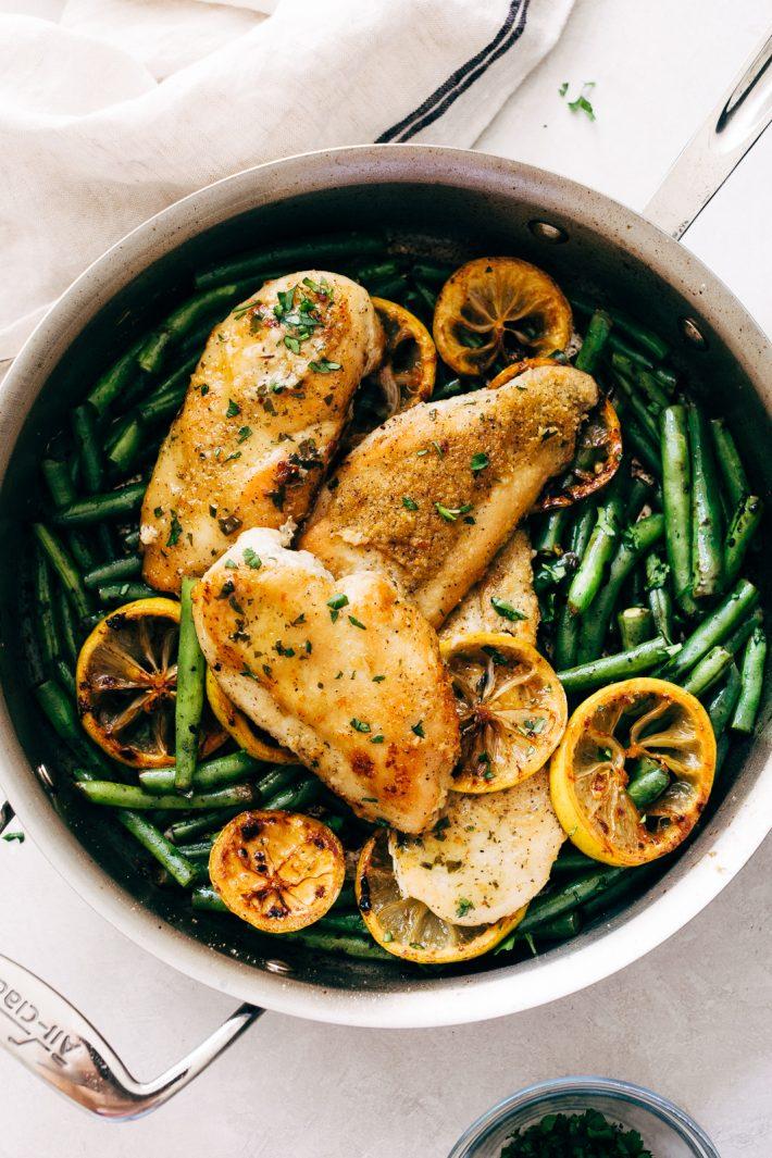 Skillet Garlic Lemon Butter Chicken Recipe Little Spice Jar