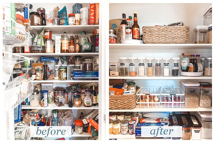 10 Steps For Organizing Your Pantry (and Keeping it that way!) - Organize your pantry like a pro with these 10 easy steps! It'll make your life so much easier! #kitchen101 #organizing101 #howtoorganizeyourpantry #organizeyourpantry #kitchenpantryorganization #kitchenpantry #cleanup | Littlespicejar.com