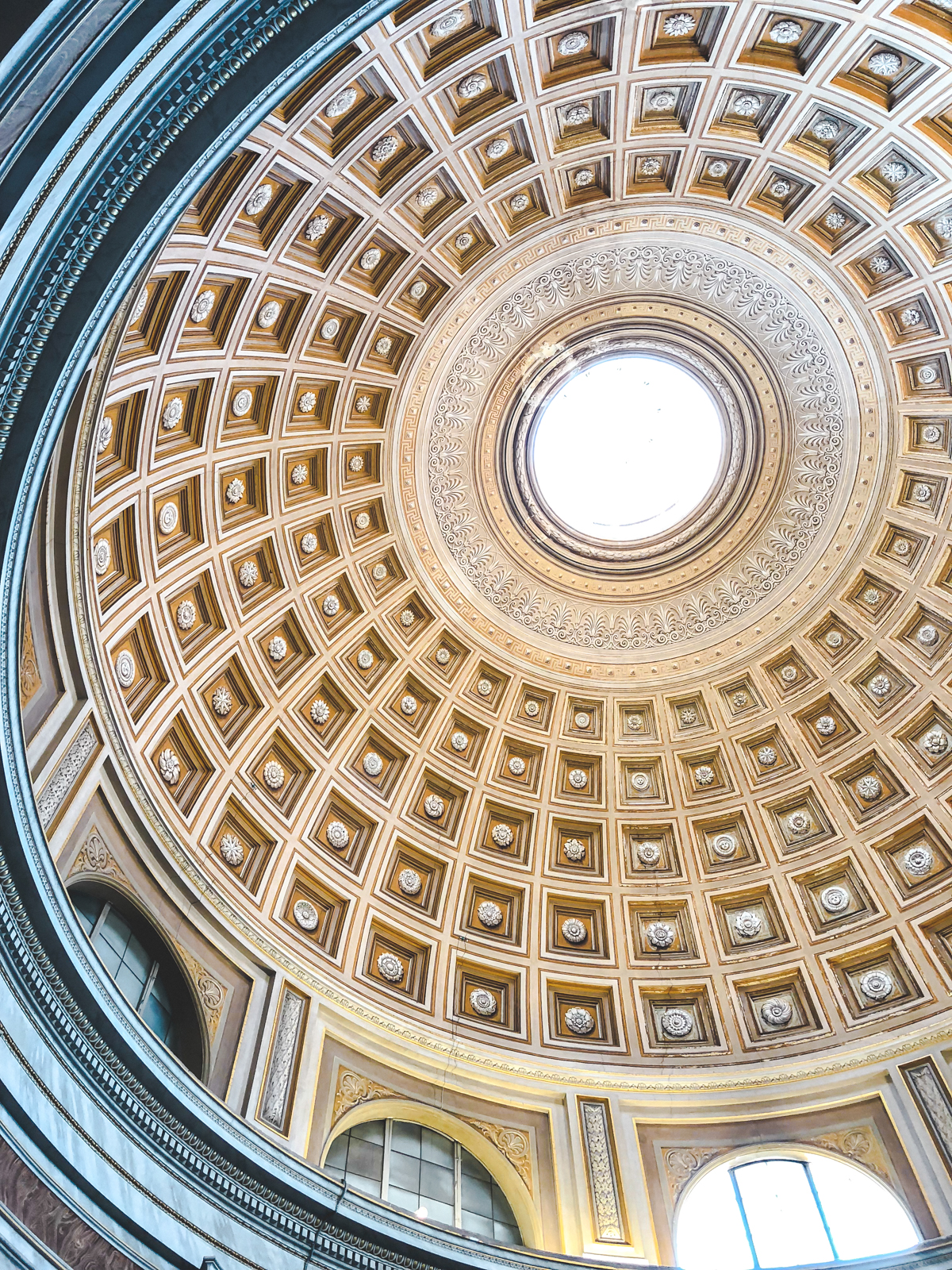 the ceiling of the Vatican in Rome
